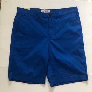 ORIGINAL PENGUIN Blue Stretch Cotton Twill Shorts